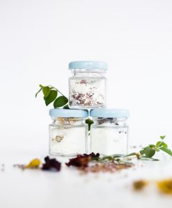 final diy bath soaks with flowers and essential oils