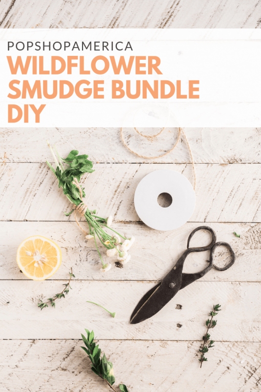 wildflower smudge bundle diy pop shop america