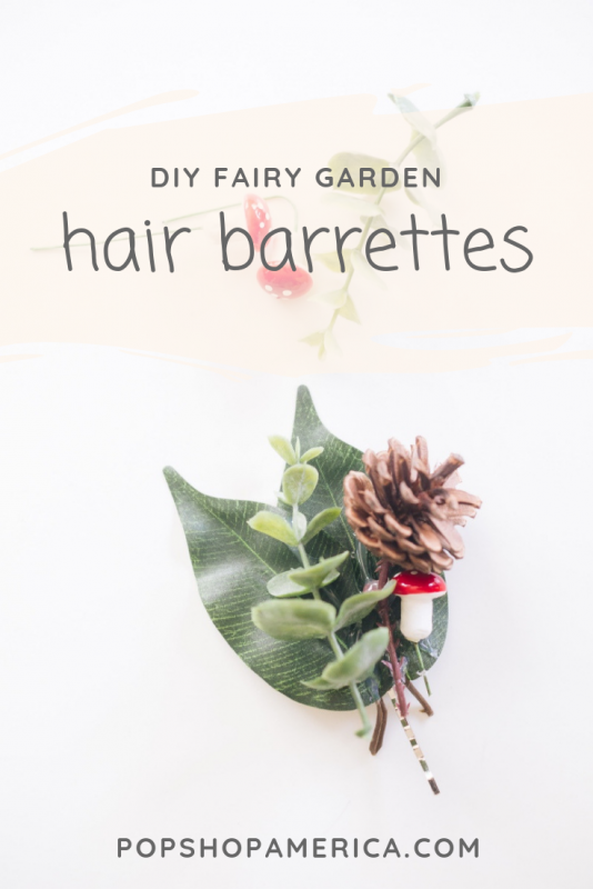 diy fairy garden hair barrettes