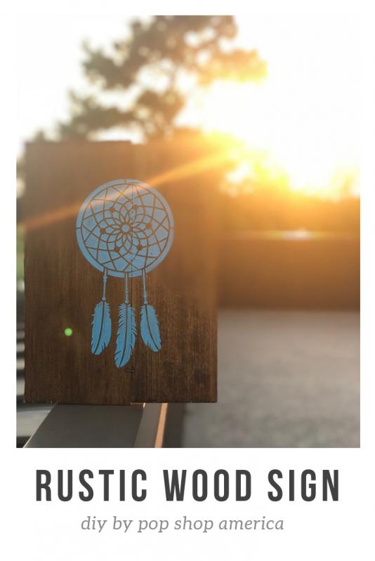 diy rustic wood sign pop shop america