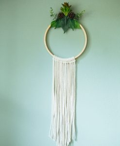 finished wreath with chevron macrame pop shop america