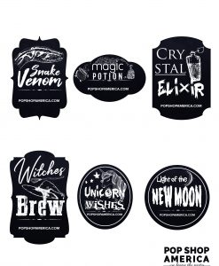 halloween bottle labels apothecary style