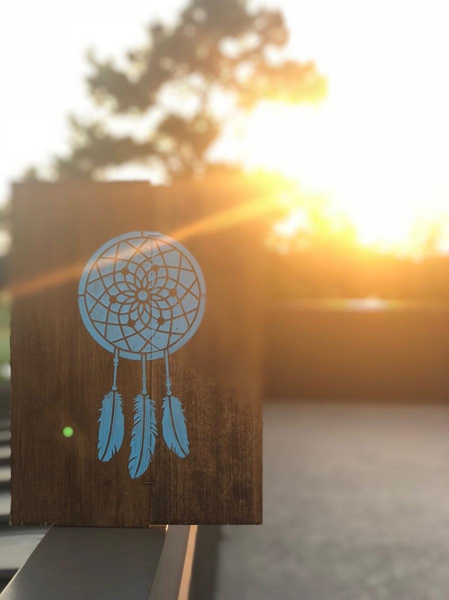 dreamcatcher wooden art sign pop shop america diy