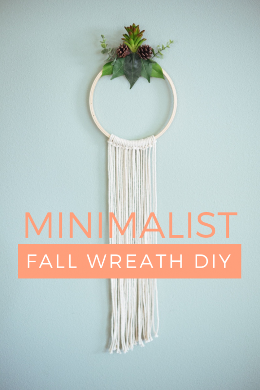 minimalist fall wreath diy pop shop america