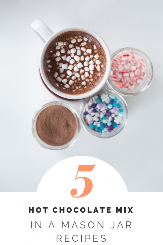 5 hot chocolate in mason jars recipes