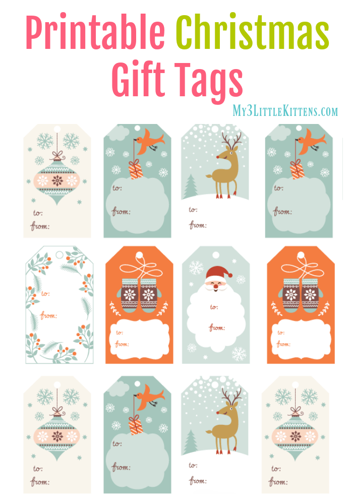 Pretty & Sweet Printable-Christmas Gift Tags