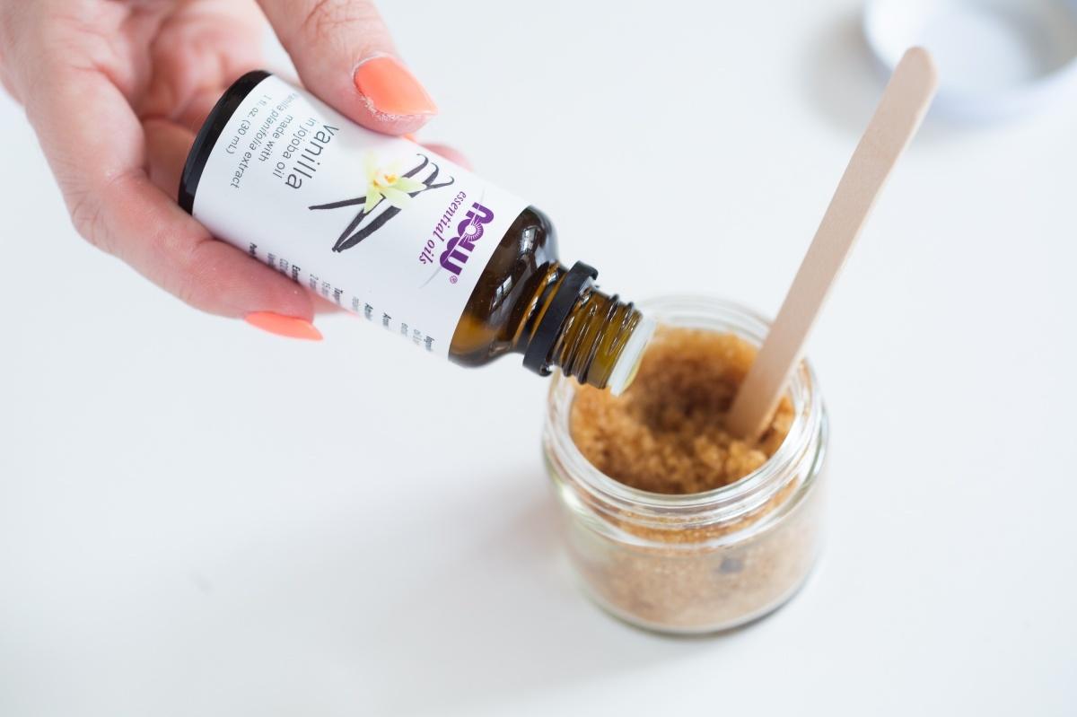 add vanilla essential oil diy brown sugar scrub pop shop america