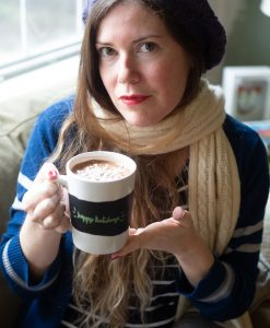 brittany with chalkboard mug set hot chocolate