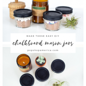 easy diy chalkboard painted mason jars