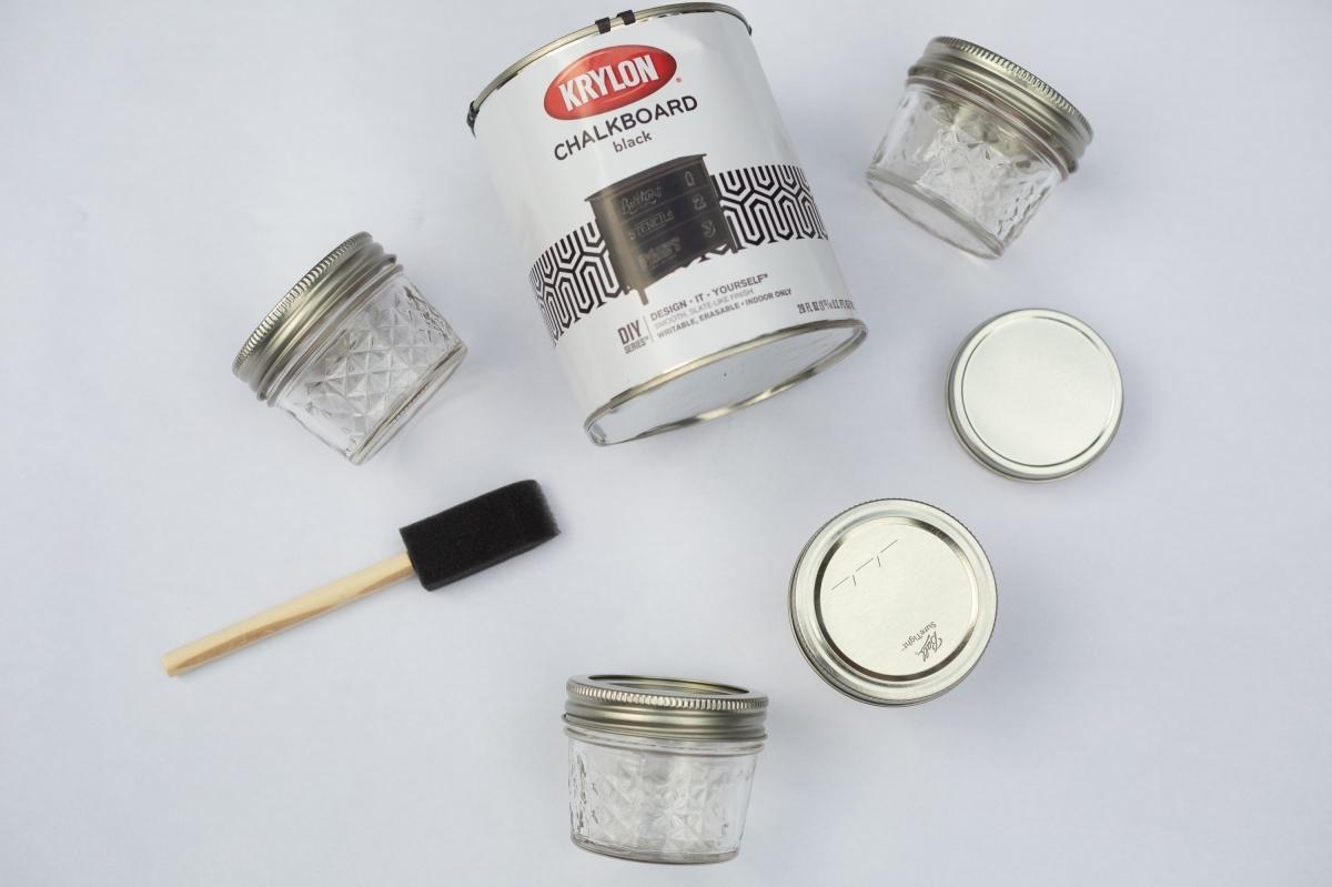 supplies to make chalkboard mason jars craft in style box
