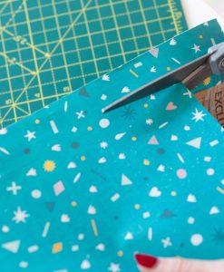 cut the paper to make a diy calendar craft tutorial