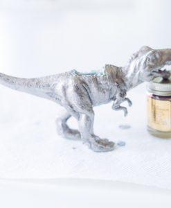 silver gilded dinosaur diy planter arts and crafts subscription box
