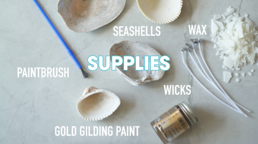 supplies to make seashell candles with gilded edges pop shop america
