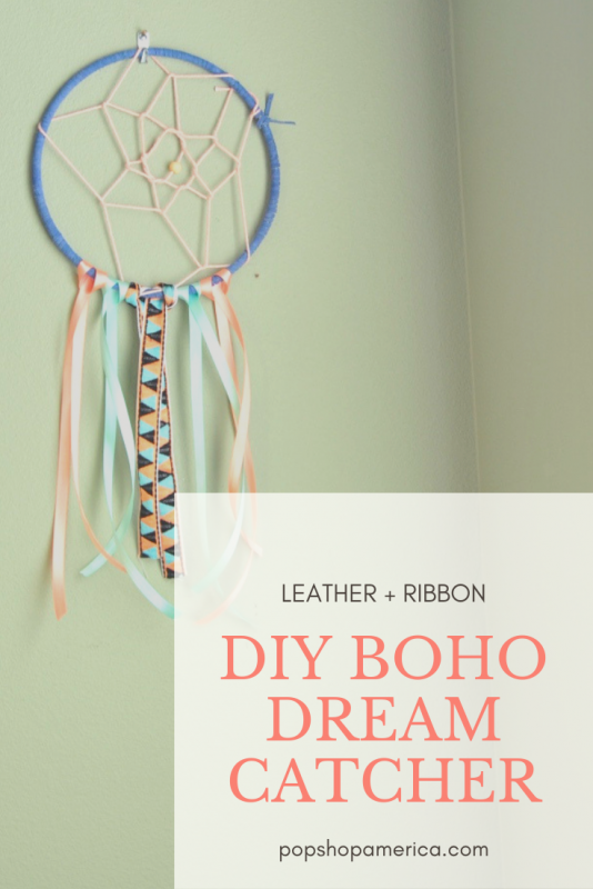 Pretty + Boho diy dreamcatcher craft tutorial pop shop america