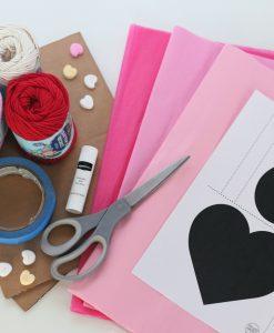 all the supplies to make a diy heart pinata pop shop america