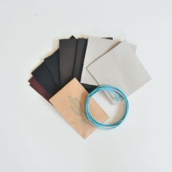 assorted leather and leather cord - diy kit by pop shop america