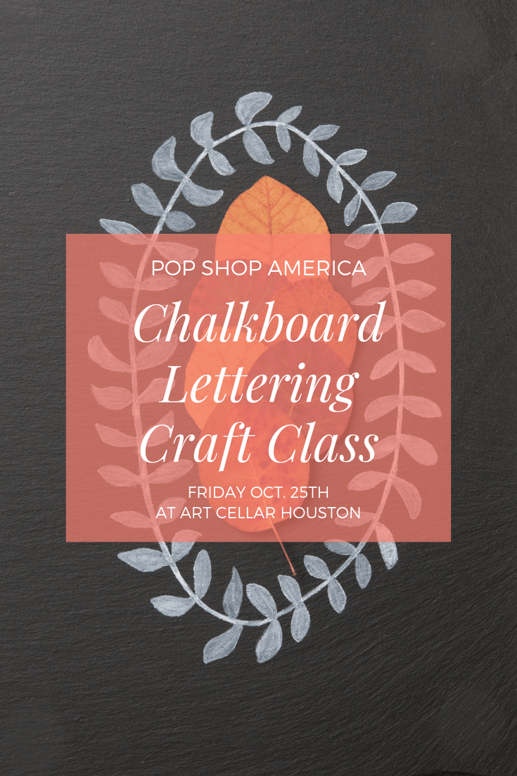 chalkboard lettering craft class by pop shop america diy blog