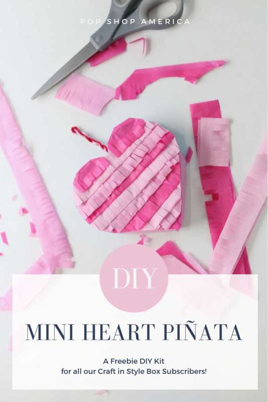 diy mini heart pinata for craft in style box subscribers pop shop america