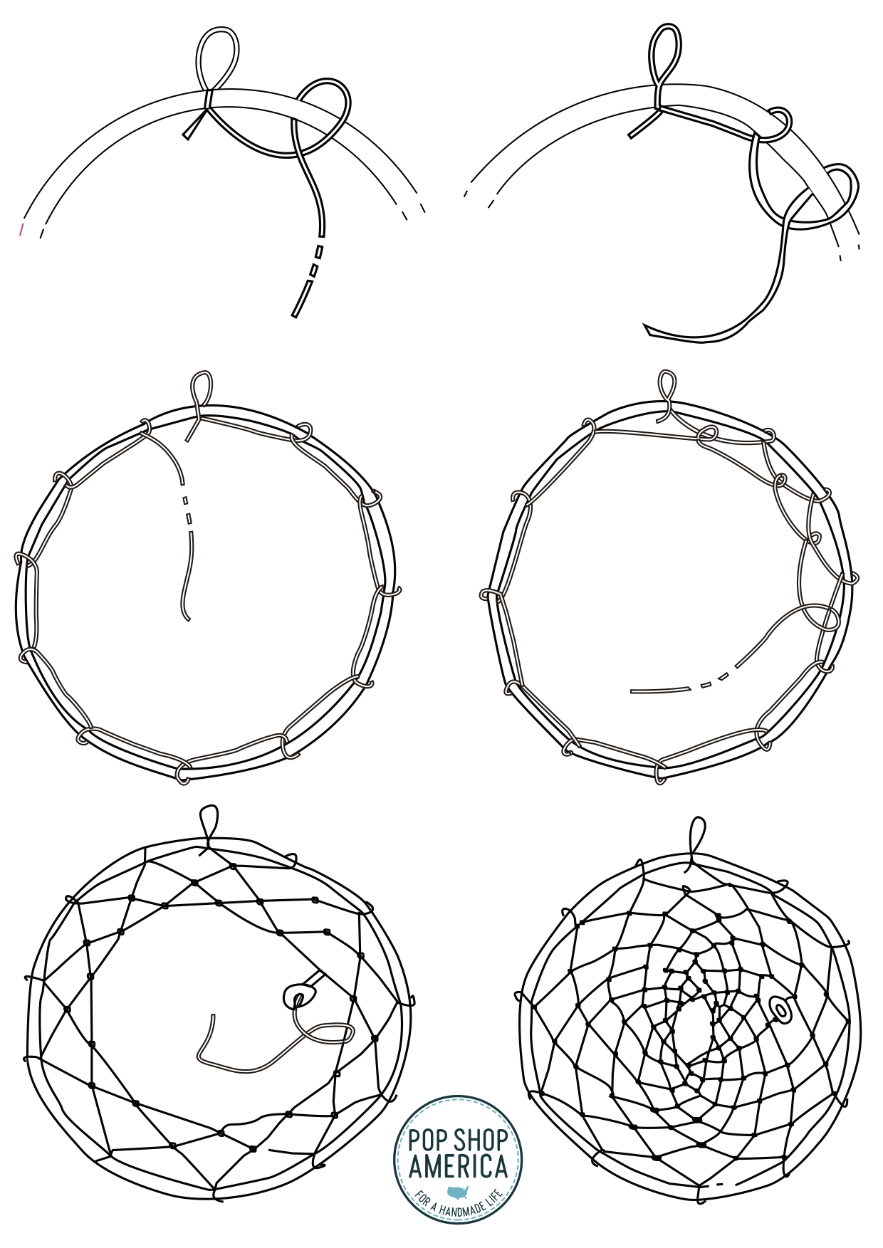 dreamcatcher pattern weaving guide pop shop america