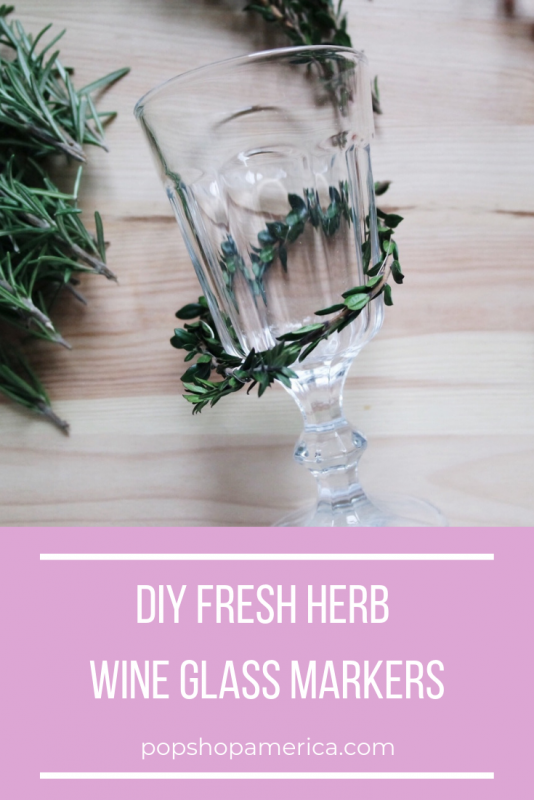fresh herb wine glass markers diy pop shop america