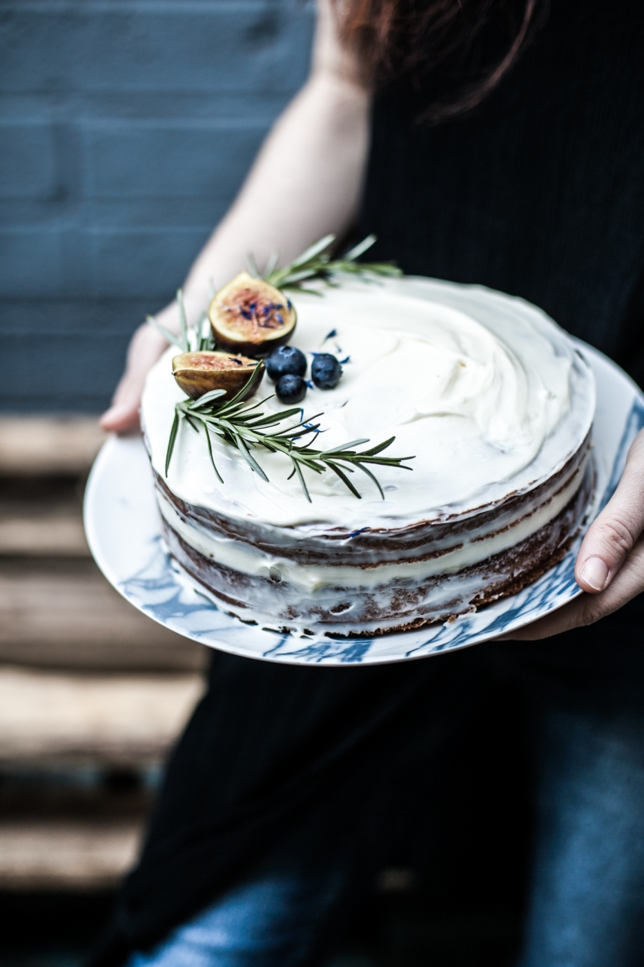 holding a rosemary and olive oil cake - pop shop america dessert recipes