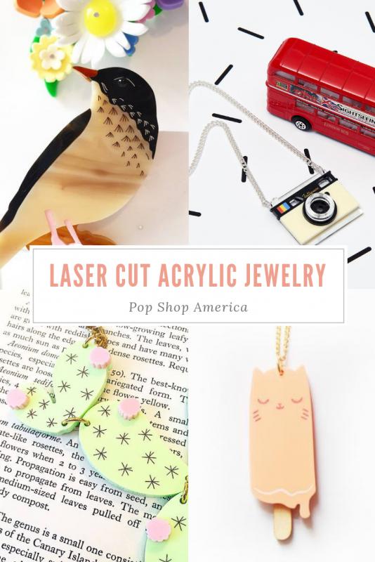 laser cut acrylic jewelry by handmade makers pop shop america