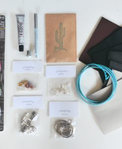 leather accessories diy kit supplies by pop shop america