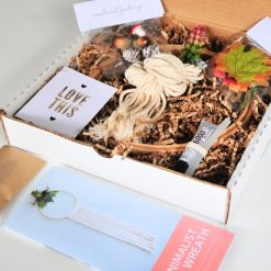 minimalist fall wreath diy kit in box pop shop america