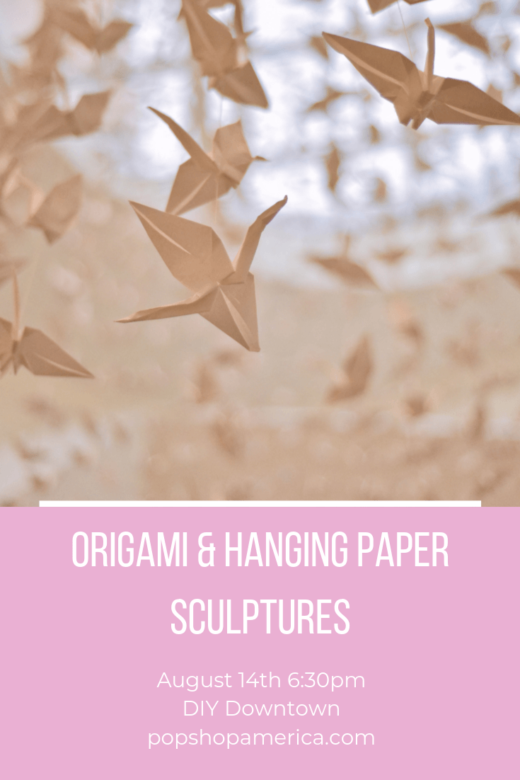 origami craft class at julia ideson library diy downtown houston