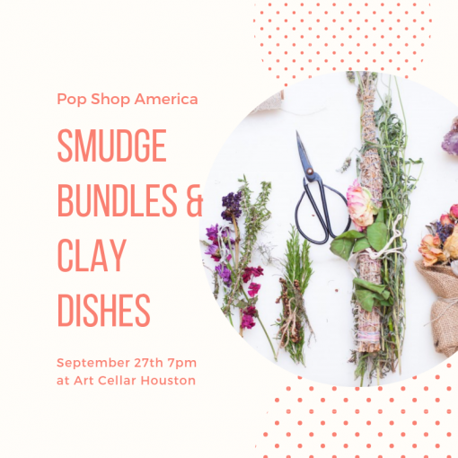 smudge bundles and clay dishes houston craft class