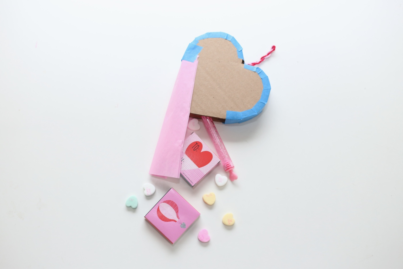 stuff the mini heart pinata with treats pop shop america