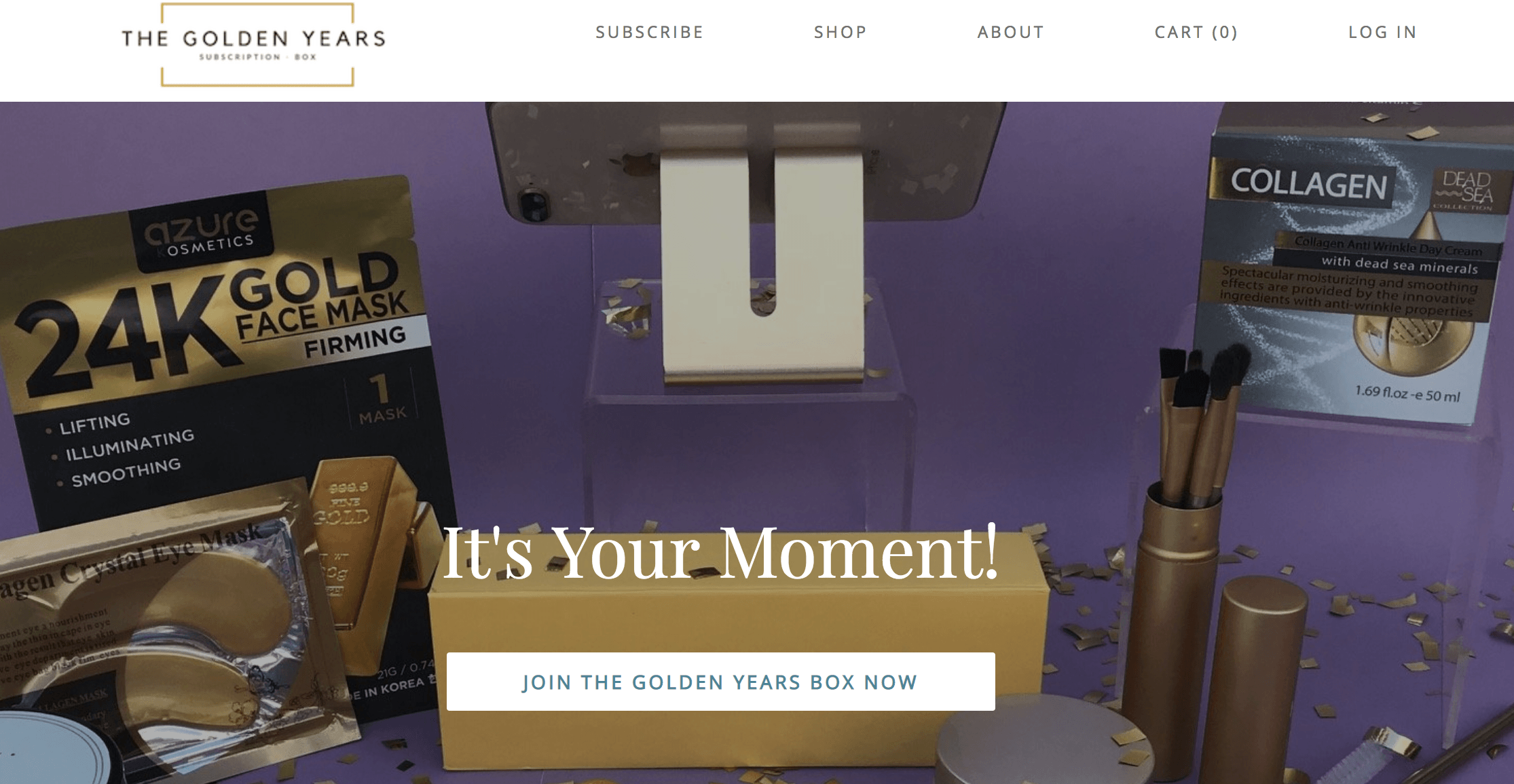 the golden years subscription box for women over 50
