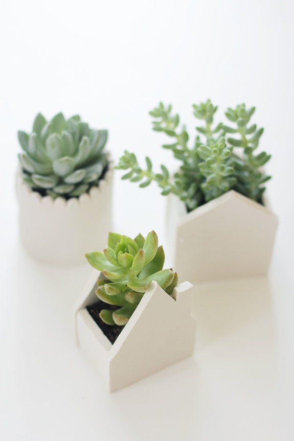 tiny house clay planters by say yes blog