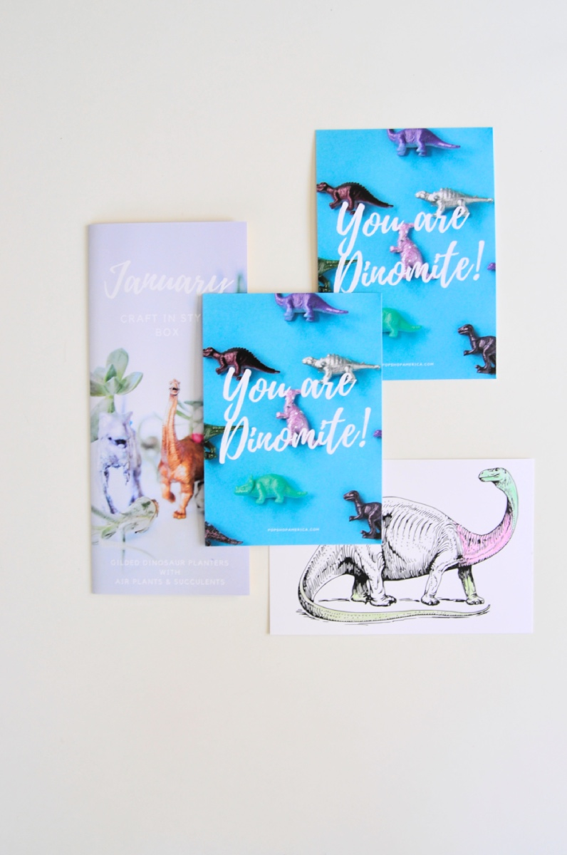 you are dinomite january craft in style arts and crafts subscription freebie