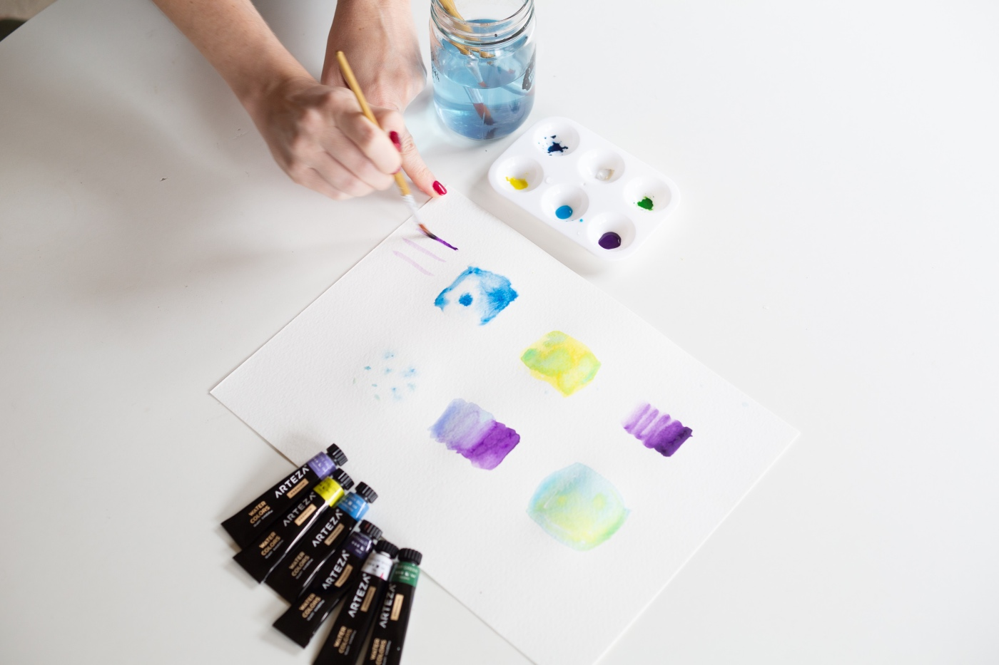 controlled color blending with watercolor painting beginners guide