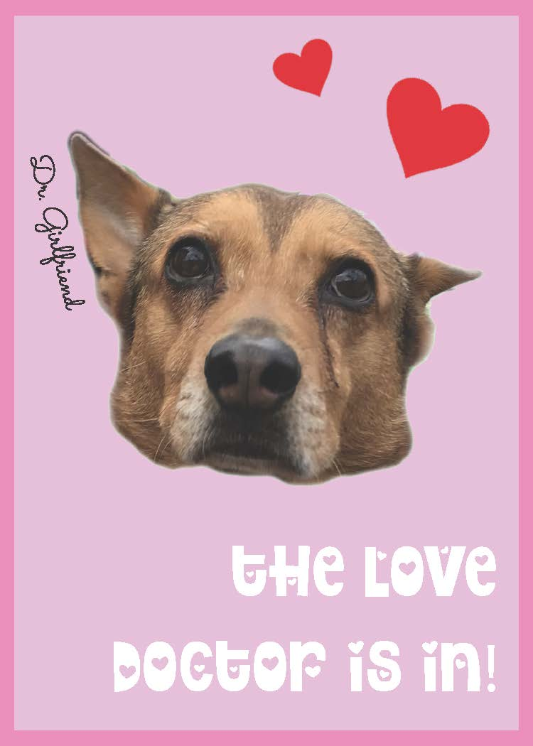 dr girlfriend dog valentine card printable
