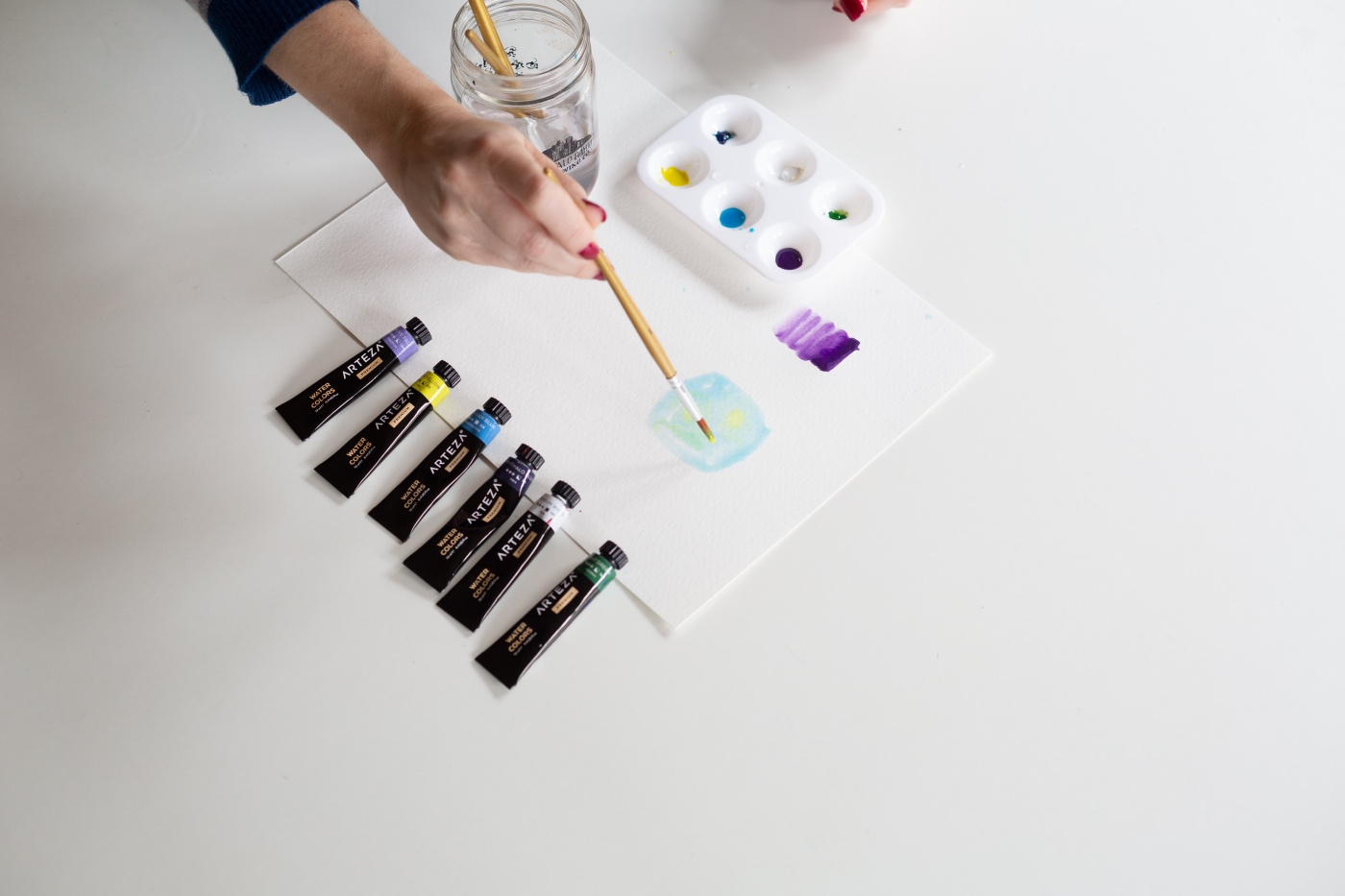 drop a complimentary color watercolor painting techniques