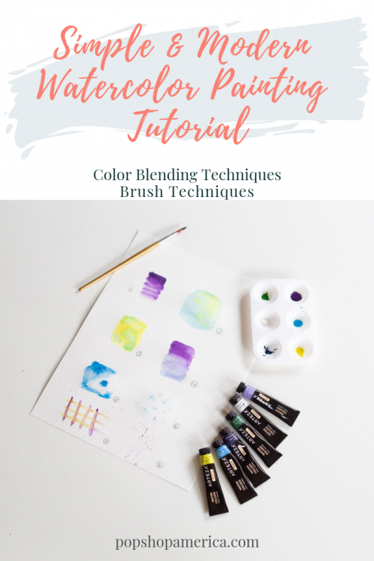 easy watercolor painting tutorials color blending for beginners