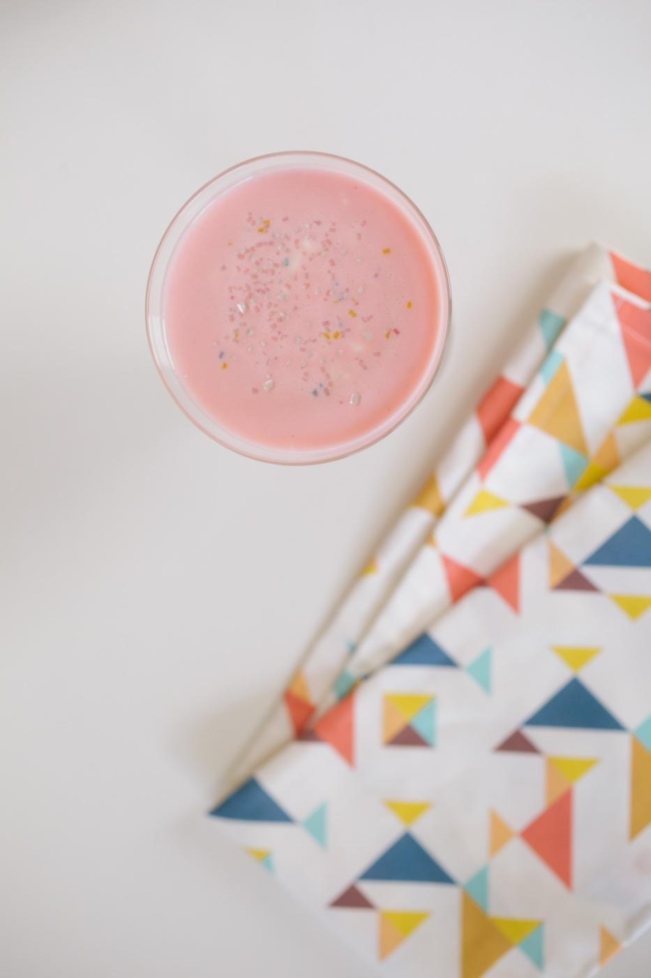 finished pink squirrel cocktail with frozen yogurt pop shop america