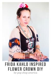 frida kahlo inspired flower crown diy featured pop shop america craft