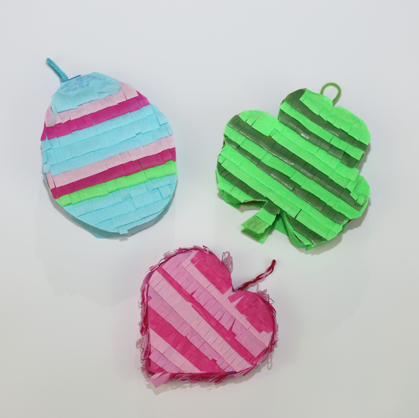 heart shamrock and egg pinata pop shop america diy and crafts