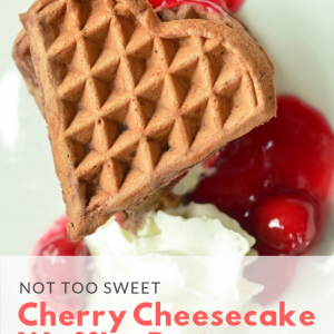 homemade cherry cheesecake waffles recipe pop shop america