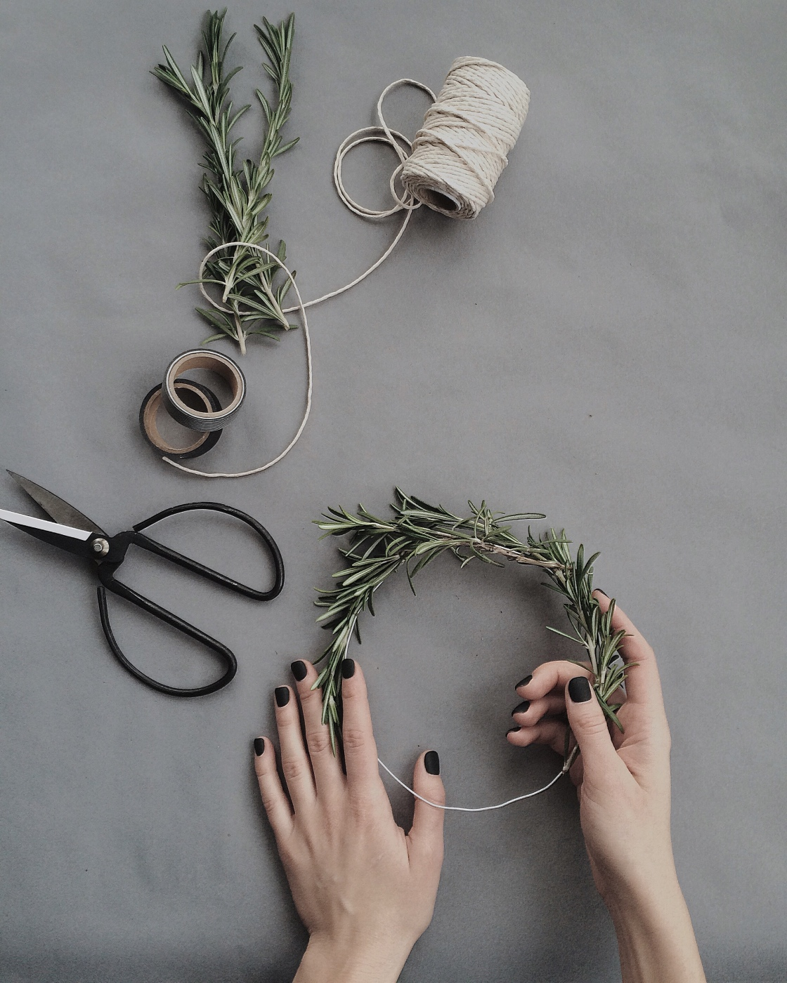 how to wrap the diy fresh rosemary drink markers craft tutorial