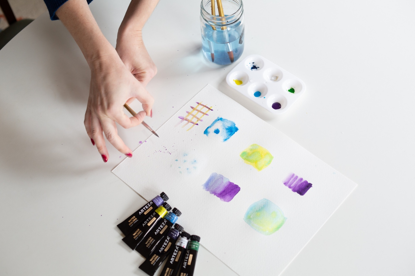 splatter painting wiith watercolor how to guide pop shop america craft in style