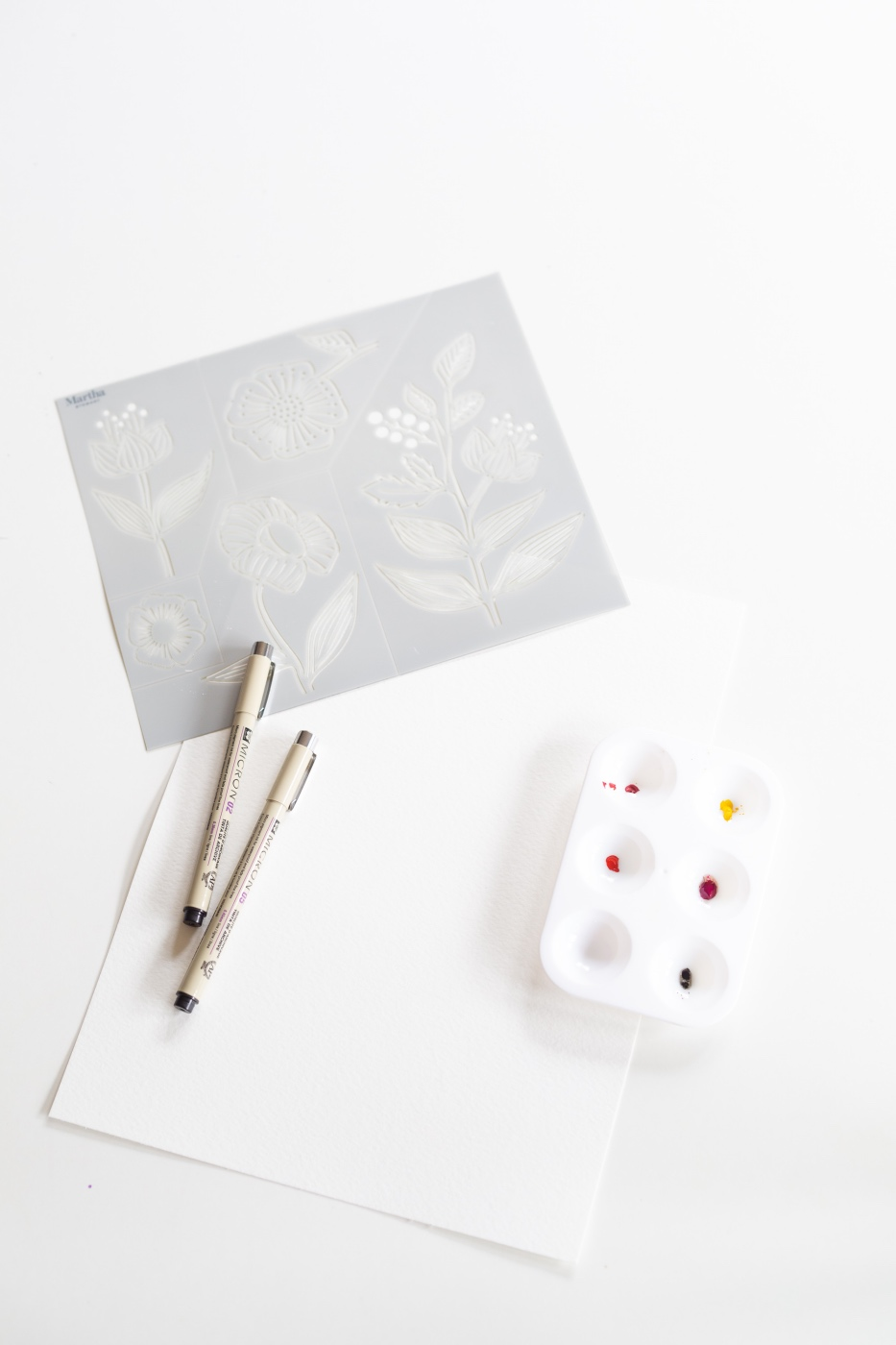 supplies to make a stenciled watercolor painting pop shop america