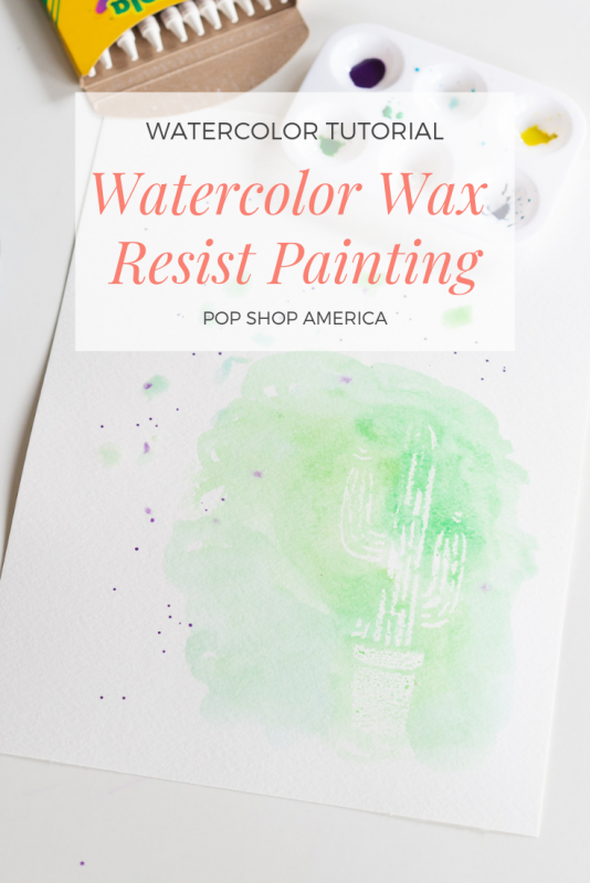 watercolor wax resist painting tutorial pop shop america feature