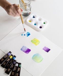 wet paper and wet brush technique easy watercolor guide