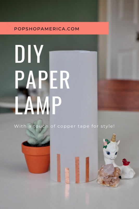 DIY paper lamp tutorial for craft in style arts and crafts subscription box