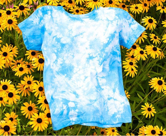blue dyed t shirt diy parent magazine pop shop america