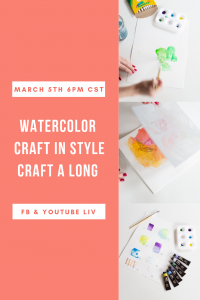 craft in style watercolor craft a long pop shop america diy
